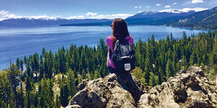 Jenny Willden looking over Lake Tahoe, California