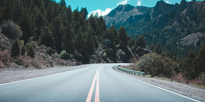 empty road with scenery
