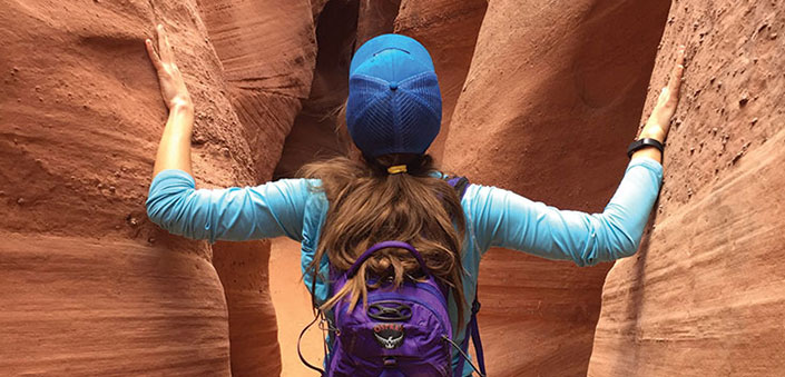 Grand Staircase-Escalante woman in slot canyon
