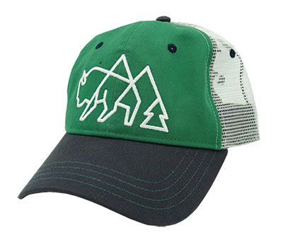 wild tribute trucker logo hat product photo