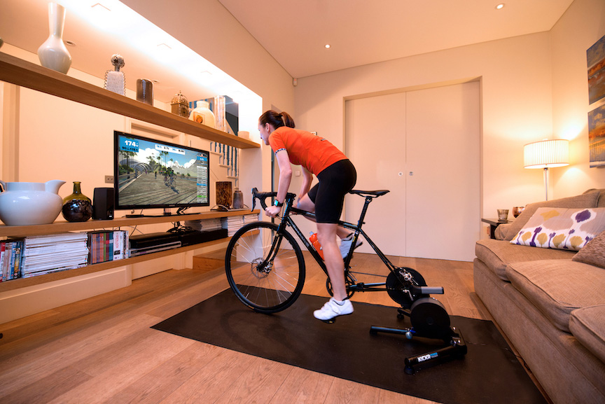 zwift train at home