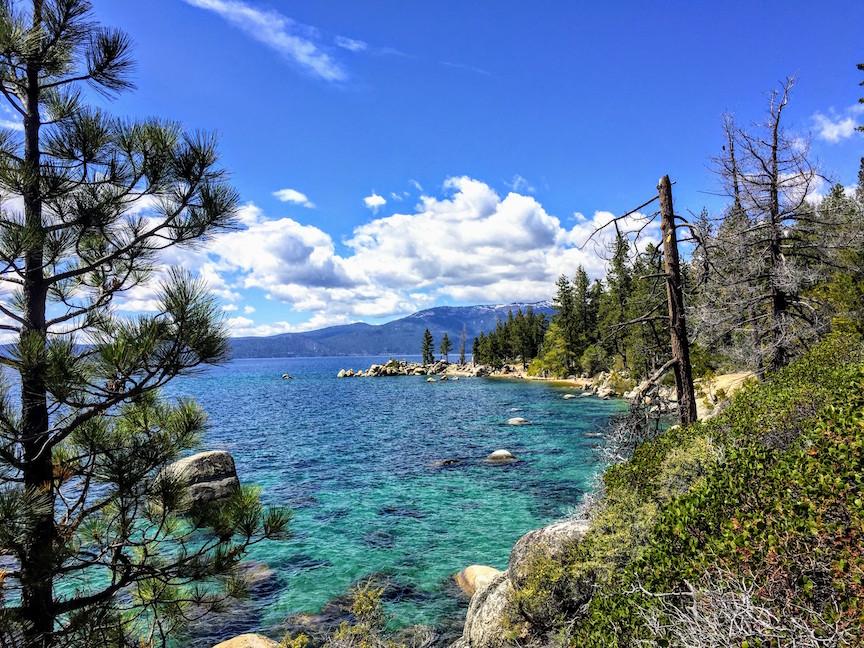 Lake Tahoe shore view