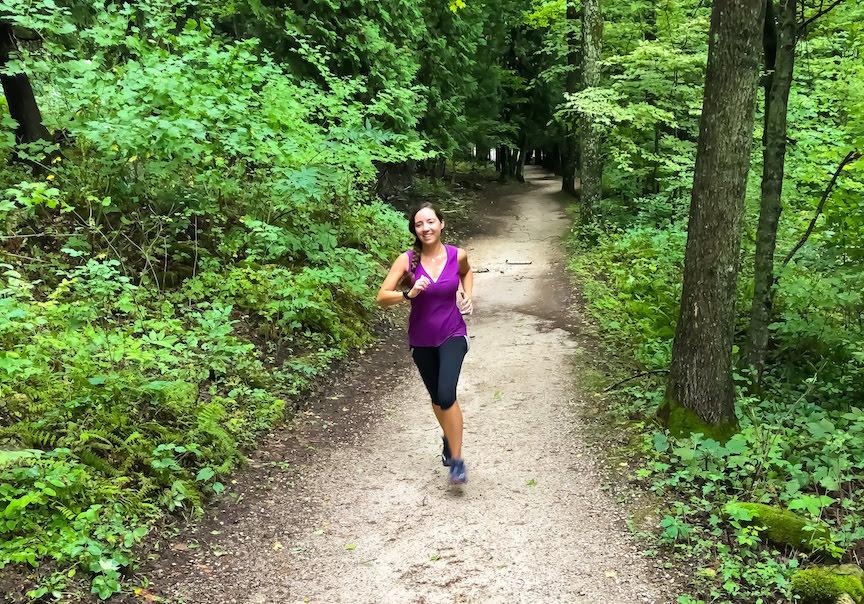 Running in Wisconsin Peninsula State Park